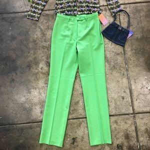 lime slime green pants